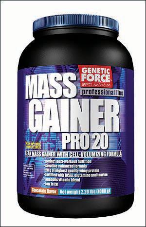 Cпортивное питание: Mass Gainer Pro 20 Genetic Force.