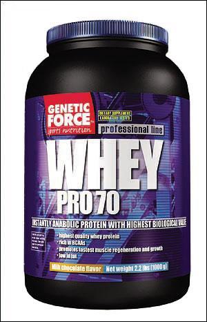 Cпортивное питание: Whey Pro 70 Genetic Force.