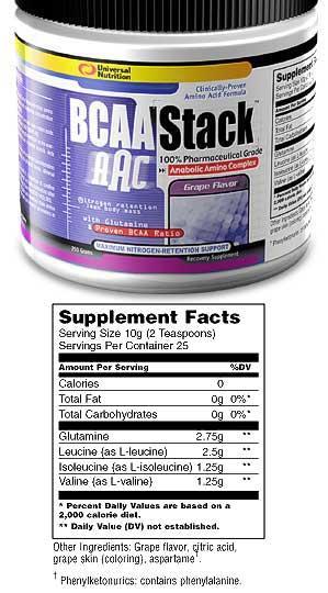 Cпортивное питание: BCAA Stack Universal.
