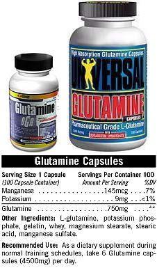 Cпортивное питание: Glutamine Capsules Universal.